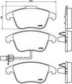BREMBO P 85 113 Тормозные колодоки, к-т дисковые