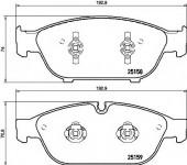 BREMBO P 85 127 Тормозные колодоки, к-т дисковые