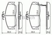 Bosch 0 986 424 214 Тормозные колодки, к-т дисковые