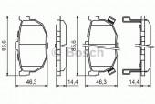 Bosch 0 986 424 418 Тормозные колодки, к-т дисковые