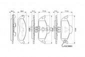 Bosch 0 986 424 611 Тормозные колодки, к-т дисковые