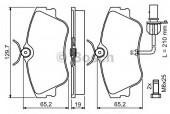 Bosch 0 986 424 672 Тормозные колодки, к-т дисковые