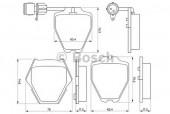 Bosch 0 986 424 689 Тормозные колодки, к-т дисковые