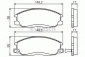 Bosch 0 986 424 729 Тормозные колодки, к-т дисковые