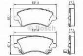 Bosch 0 986 424 735 Тормозные колодки, к-т дисковые