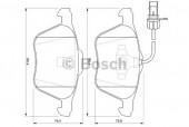 Bosch 0 986 424 777 Тормозные колодки, к-т дисковые