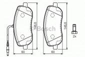 Bosch 0 986 424 789 Тормозные колодки, к-т дисковые