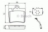 Bosch 0 986 424 830 Тормозные колодки, к-т дисковые