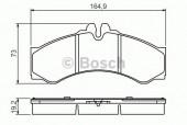 Bosch 0 986 424 832 Тормозные колодки, к-т дисковые