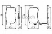 Bosch 0 986 461 006 Тормозные колодки, к-т дисковые