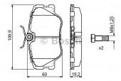 Bosch 0 986 469 410 Тормозные колодки, к-т дисковые
