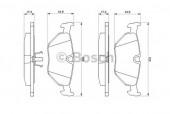 Bosch 0 986 469 960 Тормозные колодки, к-т дисковые