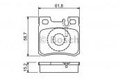 Bosch 0 986 490 260 Тормозные колодки, к-т дисковые