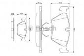 Bosch 0 986 490 640 Тормозные колодки, к-т дисковые