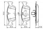 Bosch 0 986 494 015 Тормозные колодки, к-т дисковые