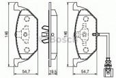 Bosch 0 986 494 019 Тормозные колодки, к-т дисковые