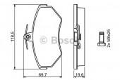 Bosch 0 986 494 021 Тормозные колодки, к-т дисковые