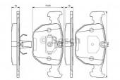 Bosch 0 986 494 028 Тормозные колодки, к-т дисковые