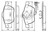 Bosch 0 986 494 050 Тормозные колодки, к-т дисковые