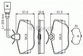Bosch 0 986 494 051 Тормозные колодки, к-т дисковые