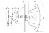 Bosch 0 986 494 104 Тормозные колодки, к-т дисковые