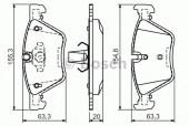 Bosch 0 986 494 118 Тормозные колодки, к-т дисковые