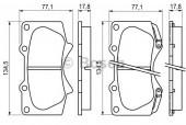 Bosch 0 986 494 153 Тормозные колодки, к-т дисковые