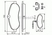 Bosch 0 986 494 163 Тормозные колодки, к-т дисковые