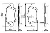 Bosch 0 986 494 182 Тормозные колодки, к-т дисковые