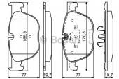 Bosch 0 986 494 191 Тормозные колодки, к-т дисковые