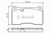 Bosch 0 986 494 207 Тормозные колодки, к-т дисковые