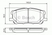 Bosch 0 986 494 218 Тормозные колодки, к-т дисковые