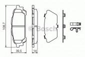 Bosch 0 986 494 232 Тормозные колодки, к-т дисковые