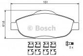Bosch 0 986 494 261 Тормозные колодки, к-т дисковые