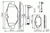 Bosch 0 986 494 285 Тормозные колодки, к-т дисковые