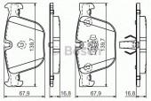 Bosch 0 986 494 294 Тормозные колодки, к-т дисковые