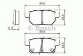 Bosch 0 986 494 328 Тормозные колодки, к-т дисковые