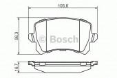 Bosch 0 986 494 344 Тормозные колодки, к-т дисковые