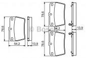 Bosch 0 986 494 350 Тормозные колодки, к-т дисковые