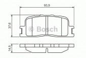 Bosch 0 986 494 359 Тормозные колодки, к-т дисковые