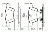 Bosch 0 986 494 427 Тормозные колодки, к-т дисковые