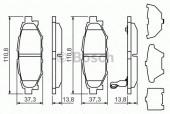 Bosch 0 986 494 444 Тормозные колодки, к-т дисковые