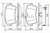 Bosch 0 986 494 488 Тормозные колодки, к-т дисковые
