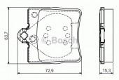 Bosch 0 986 495 080 Тормозные колодки, к-т дисковые