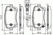 Bosch 0 986 495 094 Тормозные колодки, к-т дисковые