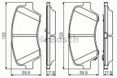 Bosch 0 986 495 343 Тормозные колодки, к-т дисковые