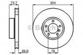 Bosch 0 986 478 024 Тормозной диск, 1шт