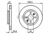 Bosch 0 986 478 124 Тормозной диск, 1шт