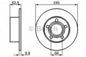 Bosch 0 986 478 132 Тормозной диск, 1шт