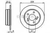 Bosch 0 986 478 188 Тормозной диск, 1шт